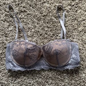 Lace Detailed Push-up Bra w/ Removable Straps
